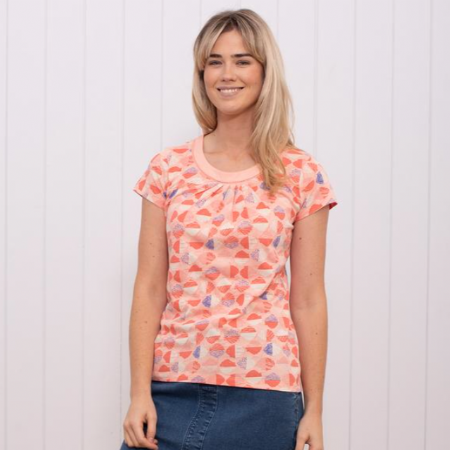 Shells Pleated Front T-Shirt.